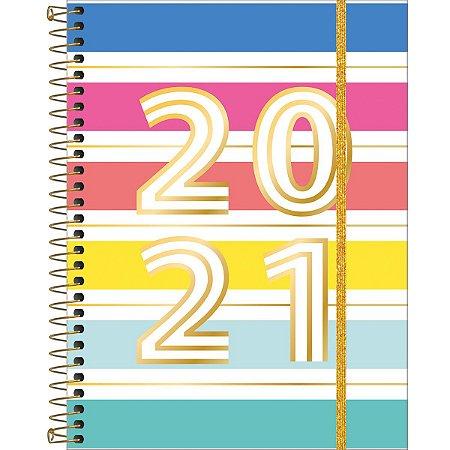 Planner Tilibra Be Nice 2021 Capa Listras Largas