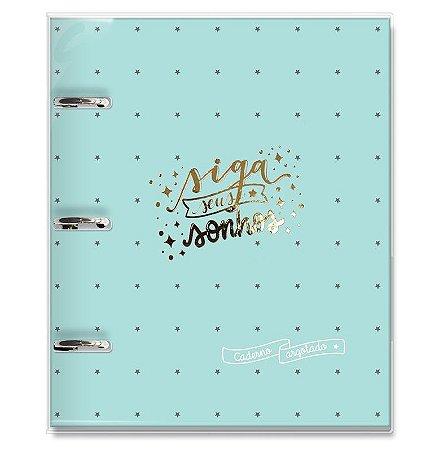 Caderno Argolado Siga Seus Sonhos Verde Fina Ideia