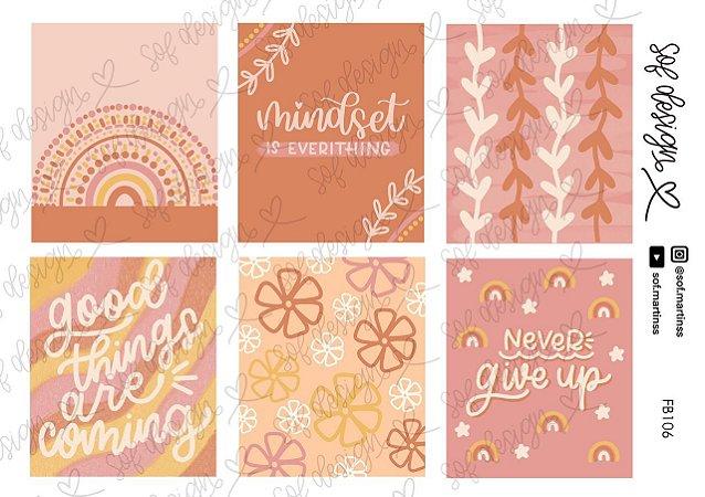 Cartela de Adesivos Decorados Sof Design  - FB106