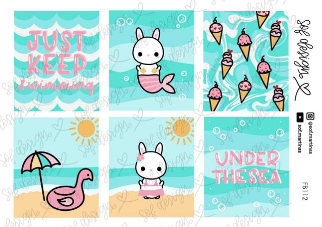 Cartela de Adesivos Decorados Sof Design Bloom - FB112