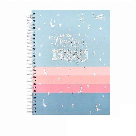 Caderno Colegial Dream Azul 80 folhas 90g Merci