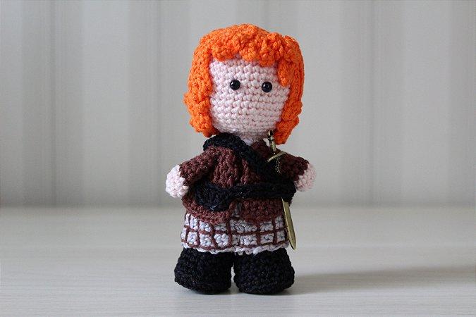 Boneco amigurumi Jamie Fraser