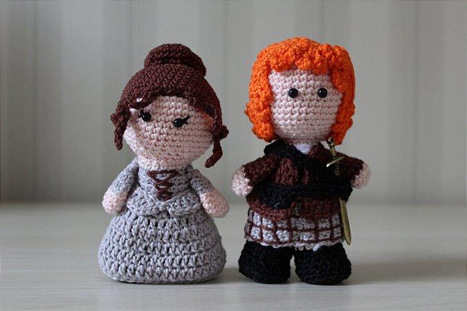 Casal amigurumi Jamie e Claire