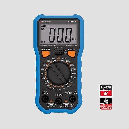 MULTIMETRO DIGITAL 3 DIGITOS TRUE MINIPA MOD NOVO ET-1100B