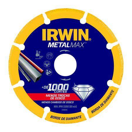 """DISCO DE CORTE 230 MM / 9"""" X 22.23 MM / 7/8""""-IRWIN METALMAX-1998847"""