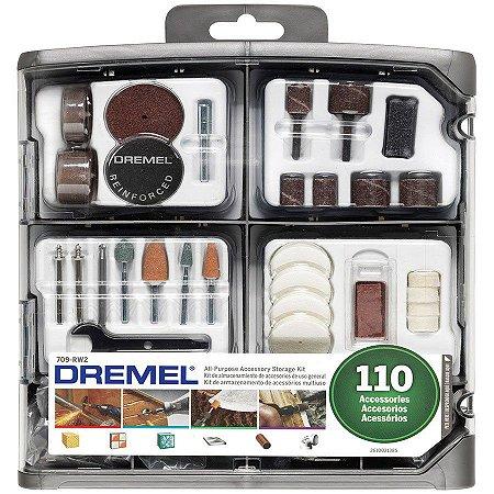 Kit para Micro Retífica Dremel 709 Com 110 Peças Uso Geral