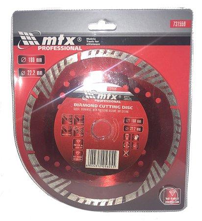 DISCO DE CORTE DIAMANTADO SEGMENTADO 180X22,2MM MTX-731559