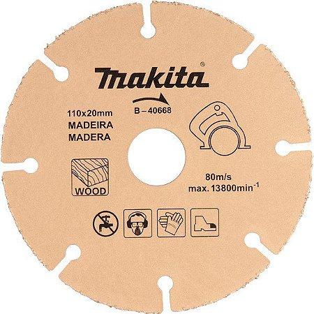 DISCO DE CORTE 110 X 20 MM COM GRÃOS PARA MADEIRA MAKITA B40668
