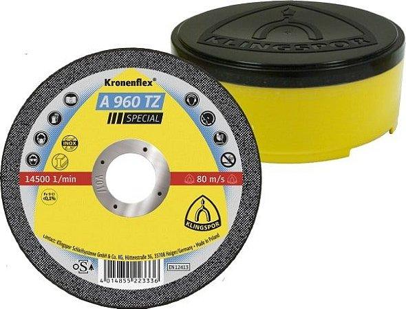 DISCO DE CORTE 115MM PARA METAL AÇO INOX 25UN-A 960 TZ-KLINGSPOR-322180