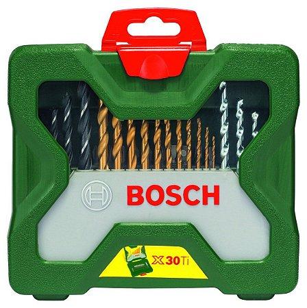 JOGO DE BROCAS X- LINE TITÂNIO 30 PEÇAS BOSCH 2607019324