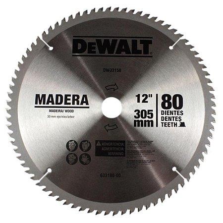 """DISCO DE SERRA WIDEA PARA MADEIRA 12"""" 80 DENTES DEWALT DWA03150"""