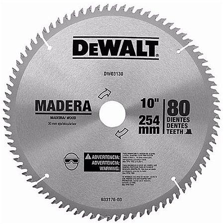 """DISCO DE SERRA WIDEA PARA MADEIRA 10"""" 80 DENTES DEWALT DWA03130"""