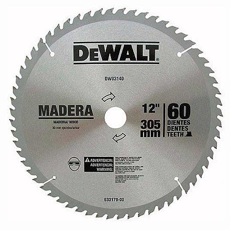 "DISCO DE SERRA WIDEA PARA MADEIRA 12"" 60D DEWALT DWA03140"