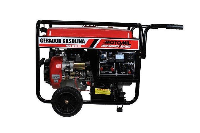 GERADOR À GASOLINA 4T 8.0KVA 15HP MONOFASICO 127/220V 25L MOTOMIL MGG8000CLE