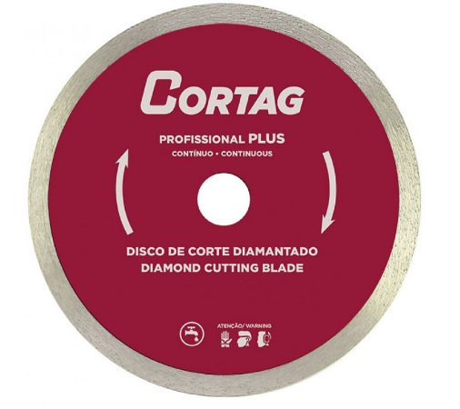 DISCO DE CORTE DIAMANTADO PROFISSIONAL PLUS 180MMX22,2 CORTAG ZAPP180