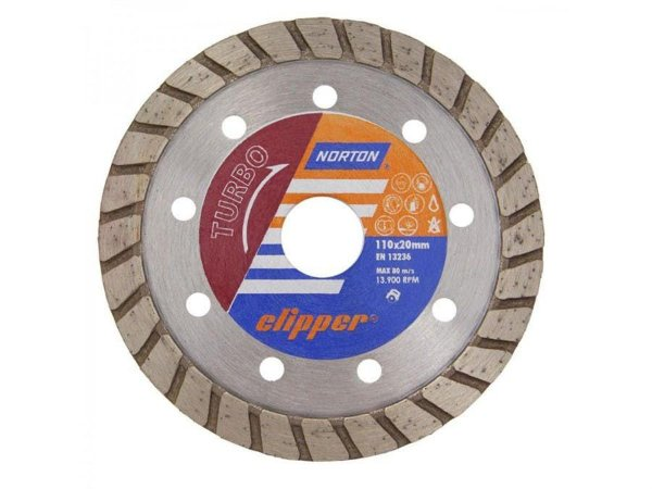 DISCO DIAMANTADO CLIPPER TURBO 110X20MM NORTON 70184624368