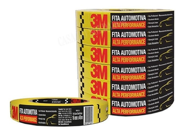 FITA CREPE AUTOMOTIVA ALTA PERFOMANCE 18MM X40MM 3M 12UN HC000660494-12