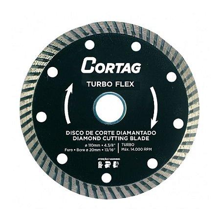 Disco de Corte Cortag Diamantado Turbo Flex 110mm 61549