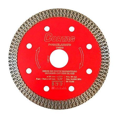 Disco Diamantado Cortag Turbo Porcelanato BestQuality 110mm