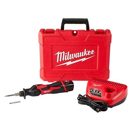 Ferro de solda a bateria 12V Milwaukee carregador 220V