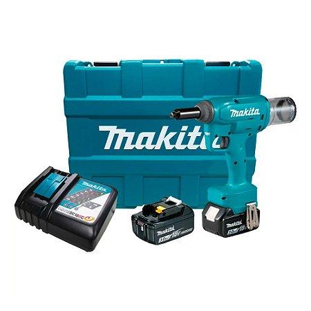Rebitador À Bateria 18v Makita Brushless 02 Bateria Maleta