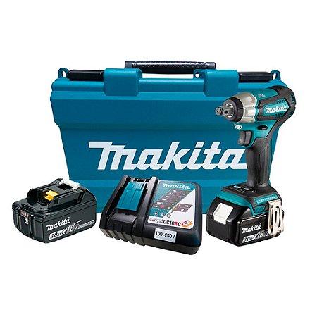 Chave Impacto À Bateria 18v Makita DTW181RFE 180nm Completo
