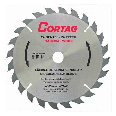 Disco Serra Circular Widea 185mm Furo 20mm 24 Dentes Cortag
