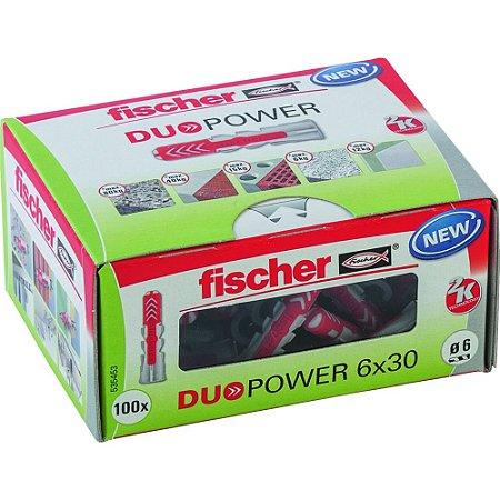 Bucha Duopower Nylon 6x30 Fischer Caixa 100 Peças