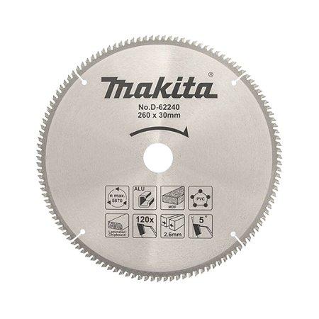 Discos de Serra Multimatériais 260X120X30 Marca-Makita