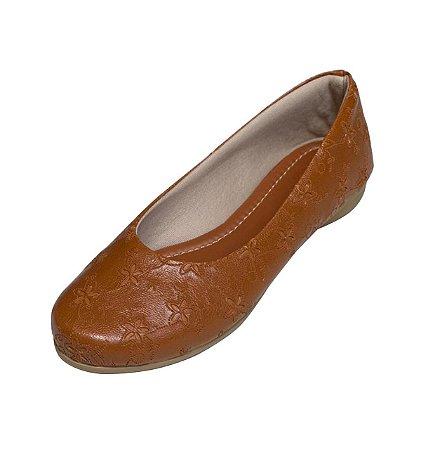 Sapatilha Likka Calçados Verde e  Dourado - Varejo 053