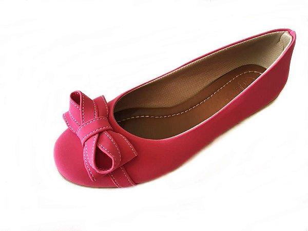 Sapatilha Likka Calçados Pink com Laço Infinito - Varejo REF. 070