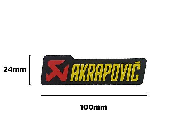Adesivo térmico Akrapovic retangular 10,0 cm