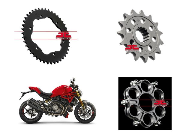 Coroa e Pinhão JT Sprockets Ducati  Monster 1200 (16'~)