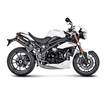 Ponteira Akrapovic dupla  - Triumph Speed Triple ( 12~15)