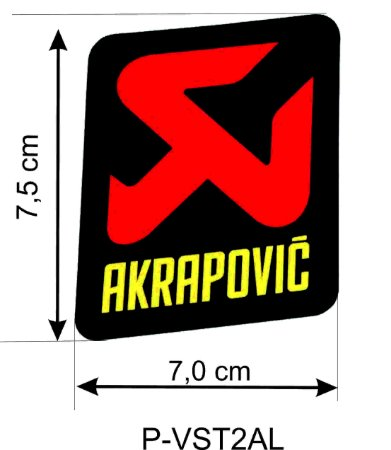 Adesivo térmico Akrapovic  7,5x7,5cm