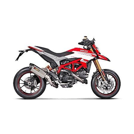 Ponteira Akrapovic titânio - Ducati Hypermotard (15~16)