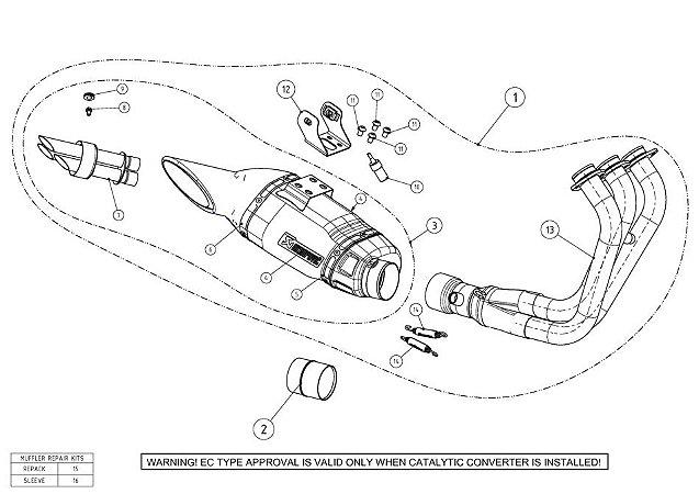Ponteira Akrapovic  titanio - Yamaha MT 09 / Tracer 900