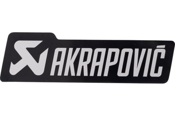 Adesivo térmico Akrapovic retangular 12cm Black