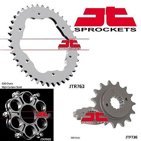 Coroa com Adaptador e Pinhão JT Sprockets Ducati Multistrada 1200 / 1260