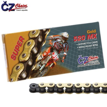Corrente CZ Chains 520x118 MX Gold