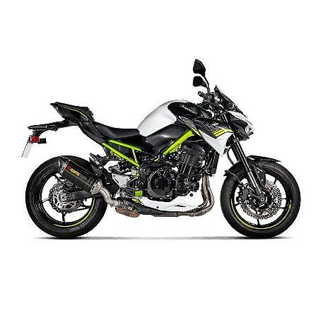 Ponteira Akrapovic carbono - Kawasaki Z900 A2 (20~)