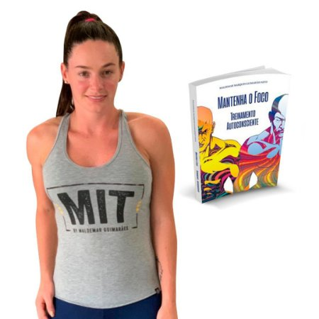 Camiseta MIT + Livro Matenha o foco Treinamento Auto Consciente.
