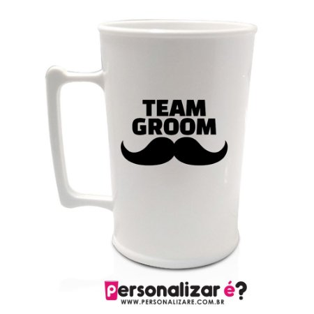 """Caneca """"Team Groom"""""""