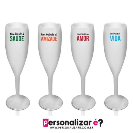 4 Taças Champagne Comemorativas