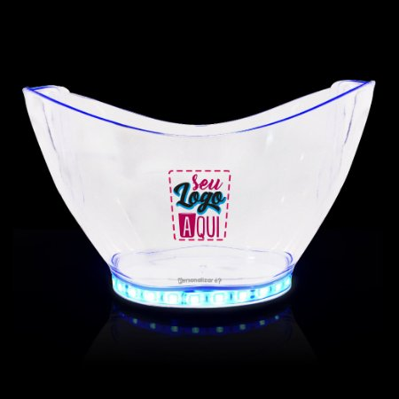 Champanheira Grande com LED – Poliestireno Acrilico PS