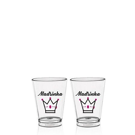 Kit 2 Copo Shot tequila acrilico 70ml - Madrinha