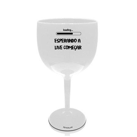 Taça Gin Personalizado 550ml Branca Criativo Presente Lembrancinha - Esperando a live