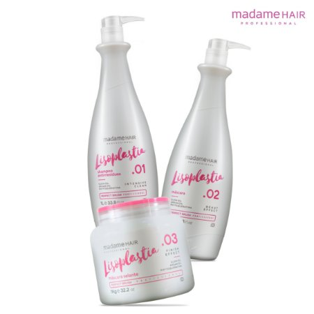 LISOPLASTIA KIT ESCOVA PROGRESSIVA MADAME HAIR 3 PASSOS