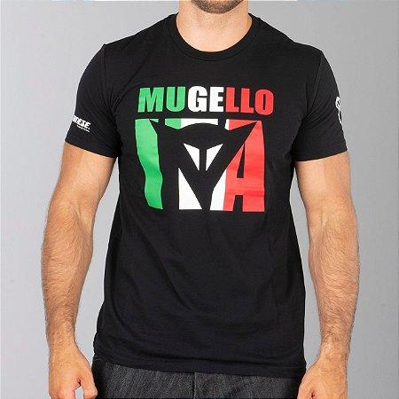 CAMISETA DAINESE MUGELLO D1 PRETA