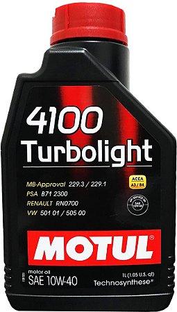 ÓLEO MOTUL 4100 TURBOLIGHT 10W40 - 1L